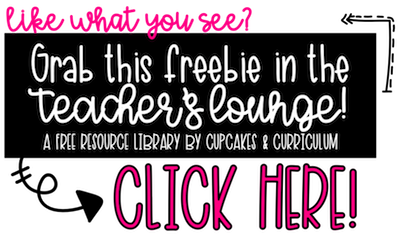 Free Resource Library by Cupcakes & Curriculum