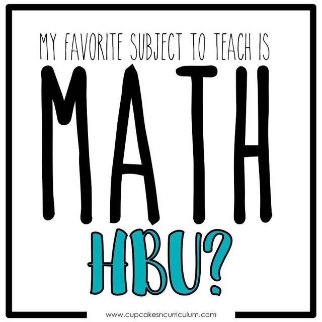 What is your favorite subject to teach? Mine is mathhellip